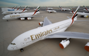 Grounded Emirates Aircraft